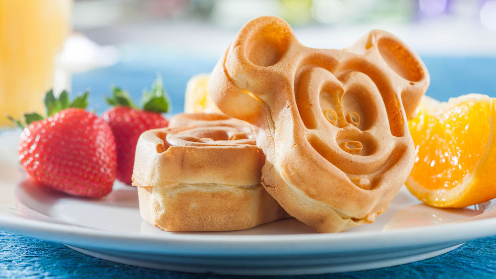 Mickey shaped waffles at Walt Disney World