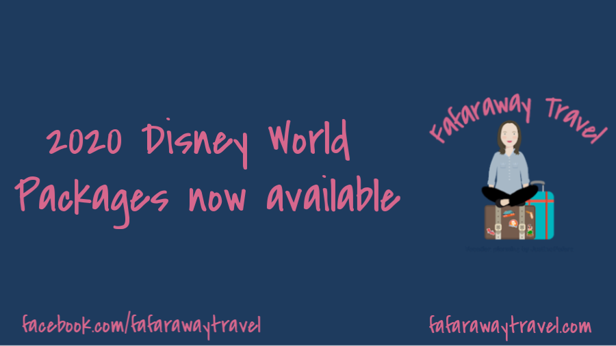 2020 Disney World Vacation Packages Available Now!