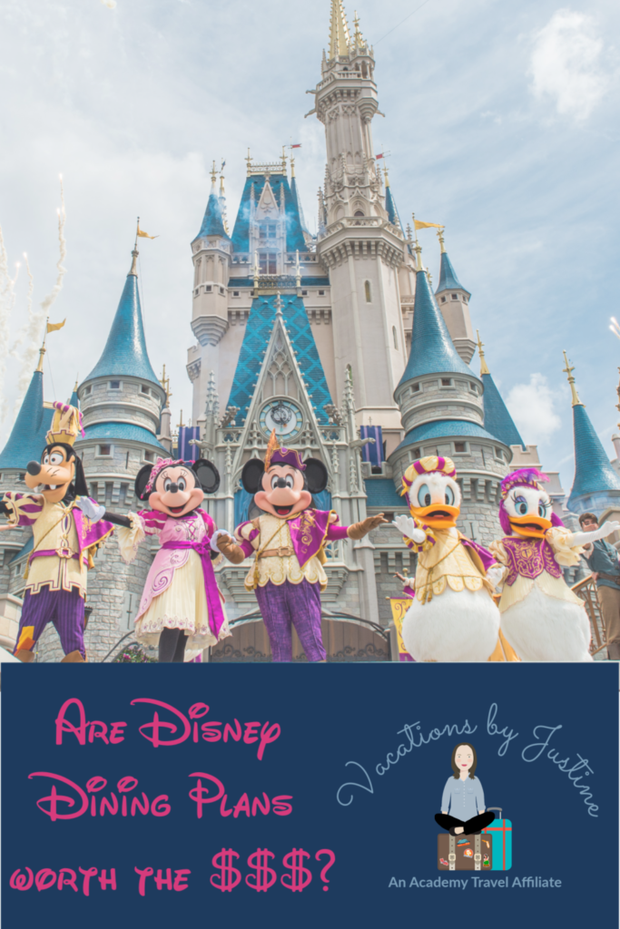 Disney Dining Plans, what is included in the disney dining plan, how much do the disney dining plans cost, how does the disney dining plan work, what is a table service credit, what is a quick service credit, are disney dining plans worth the money, are disney dining plans worth the cost