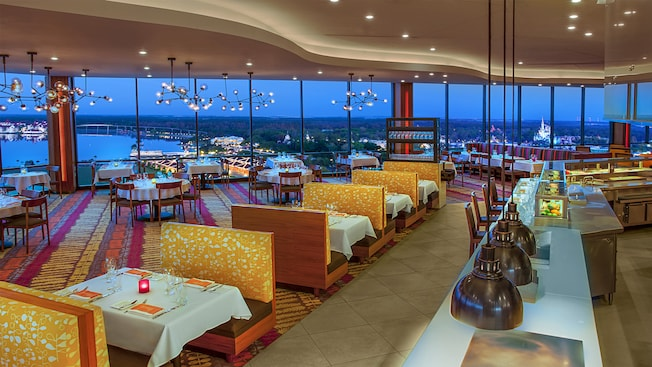 California Grill at Disney's Contemporary Resort with a view of Magic Kingdom