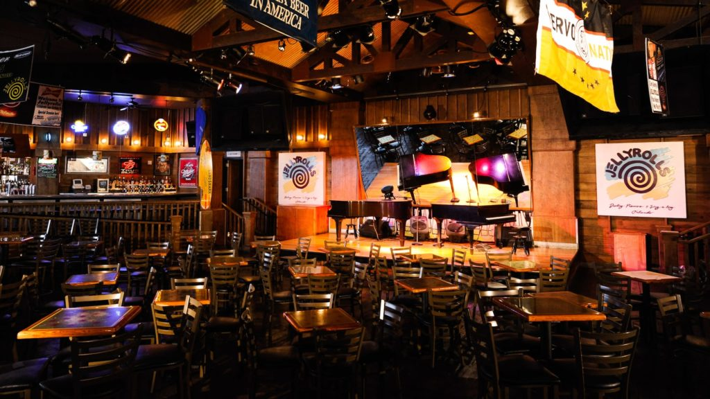Jelly Rolls, a dueling piano club, at Disney's Boardwalk
