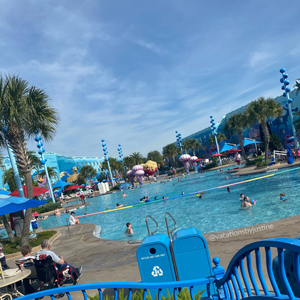 Disney's Art of Animation Resort, Disney hotel pools, Finding Nemo themed pool