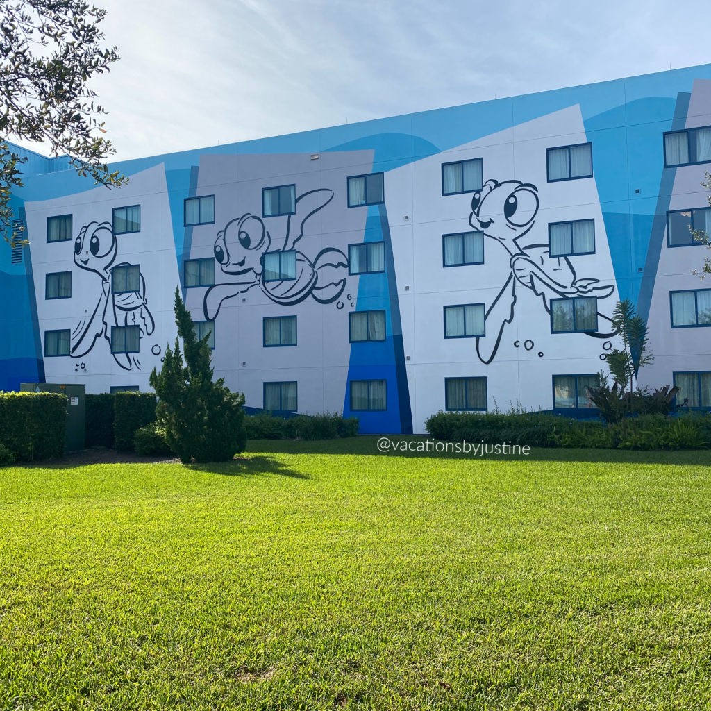 Disney's Art of Animation Resort, Finding Nemo themed hotel rooms