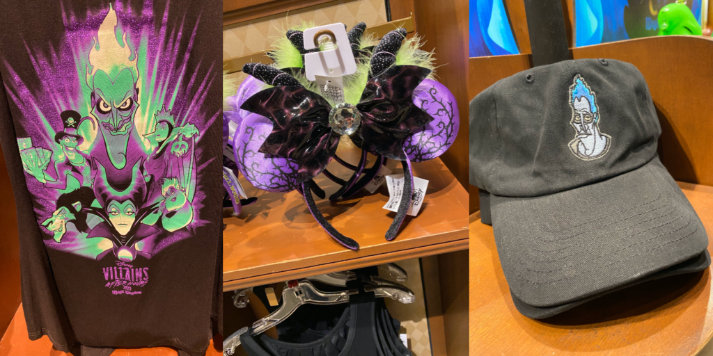 Disney World Special Events, Disney Villains After Hours, Disney Villains Merchandise