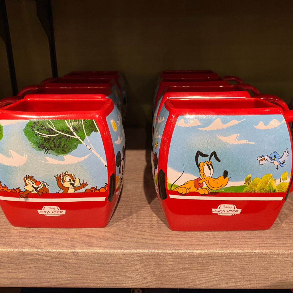 Disney Skyliner, Disney merchandise, Disney mugs, Disney transportation