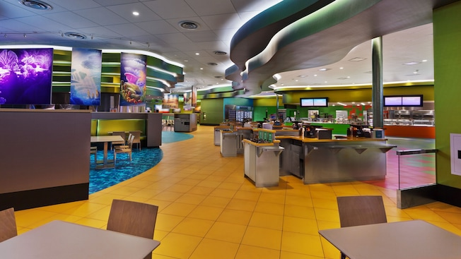Disney's Art of Animation Resort, food court, Disney dining options, Quick Service dining
