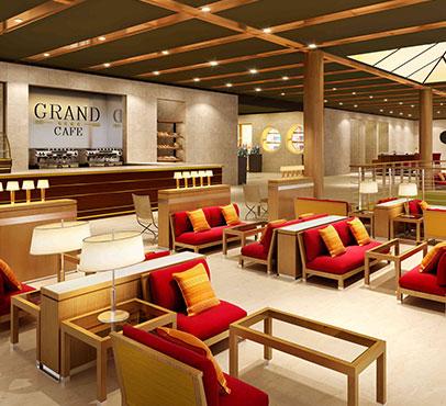 The Grand Cafe on the Bahama Paradise Cruise Line Ships