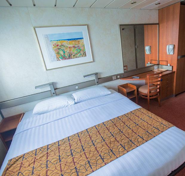 An Interior Stateroom on the Grand Celebration ship Bahama Paradise Cruise Line