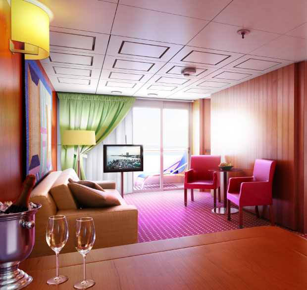 A Suite on the Grand Classica Bahama Paradise Cruise Line
