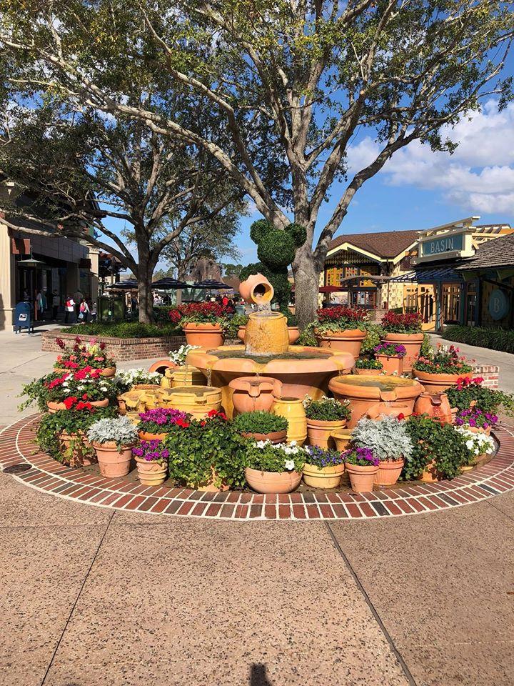Mickey topiary at Disney Springs